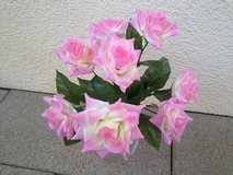 Artifical Large Pink Rose Arrangement on Stem Only in Ramstein, Germany
