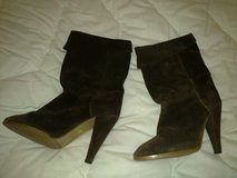 Brown Suede High Heel Ankle Boots Size 7 - Excellent Condition in Ramstein, Germany