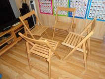 Indoor-Outdoor 4 Wood Chairs,Like New in Lockport, Illinois