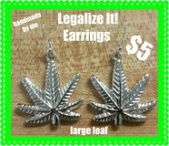 Large leaf earrings in Fort Benning, Georgia