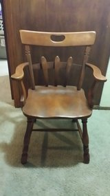 Antique wood chair in Naperville, Illinois