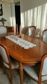 Dining table real cherrywood extendable in Ramstein, Germany
