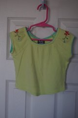 Girl's Pogo Club NY Lime Green Flower Shirt 18 months in Naperville, Illinois