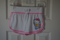 Girls Hello Kitty White Comfy Shorts Size XS 4-5 in Naperville, Illinois
