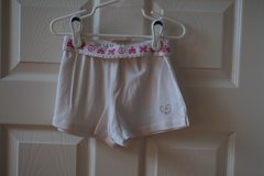 Girls Children's Place White Cotton Shorts Size 6 in Naperville, Illinois