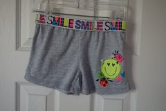Girls Faded Glory Grey Smily Face Cotton Shorts Size S 6/6X Quantity 2 in DeKalb, Illinois