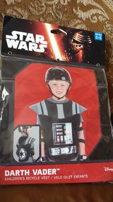 Darth Vader child bicycle vest 5-8 age new in Lockport, Illinois