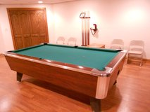 Moving: Valley Panther Pool Table with Pool Cues and Accessories in Chicago, Illinois