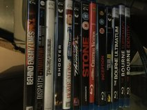 Various blue ray DVDs in Lakenheath, UK