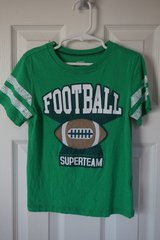 Boys Carter's Green Football Shirt Size 4T in Aurora, Illinois