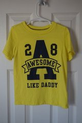 Boys Carter's Yellow Awesome Like Daddy Shirt Size 4T in Aurora, Illinois