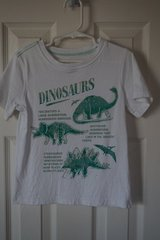 Boys Carter's White Dinosaur Shirt Size 4T in Aurora, Illinois