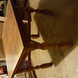 Vintag Solid Oak Table with pull out leaves in Duncan, Oklahoma