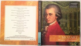 Mozart Musical Masterpieces CD and booklet in Cary, North Carolina