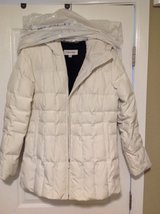 Jacket :Calvin Klein white puffer coat with Duck down feather fill in Yucca Valley, California