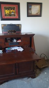 cherry desk with computer /electric outlet in Lawton, Oklahoma