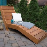 Wood outdoor chaise pool deck patio lounge chair in Camp Lejeune, North Carolina