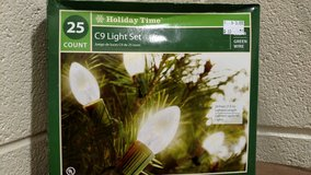 Holiday Time 25 Count C9 Clear Light Set (T=32) in Fort Campbell, Kentucky