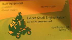 Small Engine Repair in Conroe, Texas