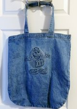 M&Ms HEAVY DENIM OVERSIZED TOTE, BAG, PURSE in Lakenheath, UK