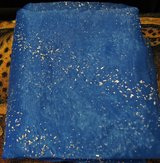 CHRISTMAS FABRIC OR TABLECLOTH USE, BLUE GAUZE WITH SILVER BEADS in Lakenheath, UK