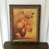 Framed Yellow Roses Oil Painting in Houston, Texas