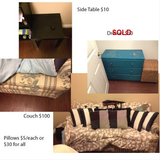 Queen Pull Out Couch / Pillows in Temecula, California