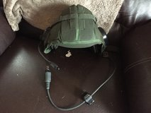 Military CVC radio headset, insect net, cold weather trigger finger mittens in Belleville, Illinois