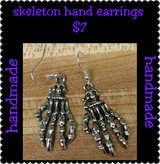 Skeleton hand earrings in Columbus, Georgia