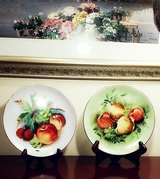 "Vintage Lefton 8"" Fruit Plates in Chicago, Illinois"