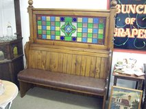 victorian pub bench in Lakenheath, UK