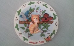 Hang in There Decorative Plate in 3D in Conroe, Texas