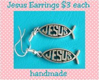 JESUS EARRINGS HANDMADE BY ME in Fort Benning, Georgia