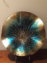 New Teal and Gold Decorative Charger in Aurora, Illinois