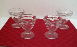 Vintage Glass Tulip Ice Cream Dishes in Naperville, Illinois
