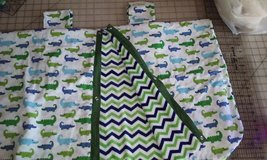 Alligator Baby Car Seat Cover / Nursing Cover, Car Seat Canopy, Car Seat, Baby gift, READY TO SHIP in Camp Lejeune, North Carolina
