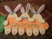 Bunny Welcome Sign in Batavia, Illinois