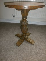 Old Carved Oak Side Table in Lakenheath, UK