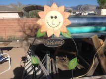 Sunflower welcome signs in Alamogordo, New Mexico