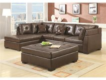2 PC LEATHER SECTIONAL SET BROWN OR BLACK in Hinesville, Georgia
