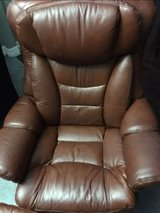 Brown leather recliner in Kingwood, Texas