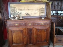 rustic antique tiger oak buffet 200 years old in Hohenfels, Germany