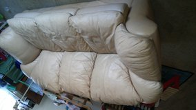 Tan Leather Couch in Camp Pendleton, California