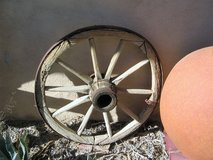 ANTIQUE WAGON WHEEL in Yucca Valley, California