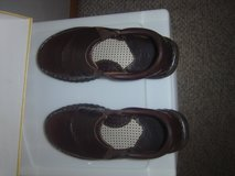 Born brown flat slip on leather shoe 8 womens in Fort Riley, Kansas