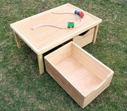 Wood kids play table children Lego PlayStation storage bin in Camp Lejeune, North Carolina