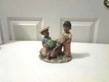 Boy & Girl Figurine (Veggies n wheel barrel) in Eglin AFB, Florida