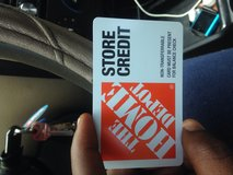home depot merchandise credit worth 293$ in Los Angeles, California