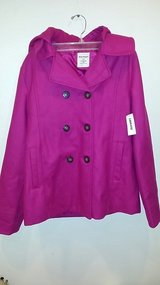Old Navy Girl's Wool Blend Hooded Pea Coat in Westmont, Illinois