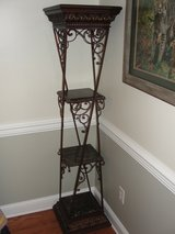 ORNATE DECORATIVE WROUGHT IRON 6 FT ETGERE STAND in Camp Lejeune, North Carolina